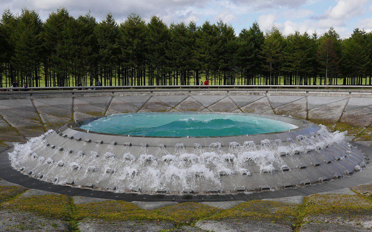 Sea Fountain, Moere Numa Park, Sapporo, Hokkaido, Japan designed by Isamu Noguchi