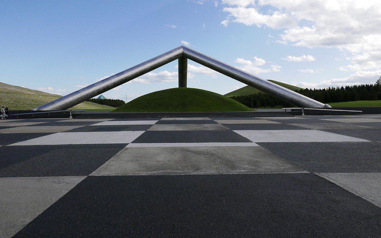 Moere Numa Park, Sapporo, Hokkaido, Japan designed by Isamu Noguchi