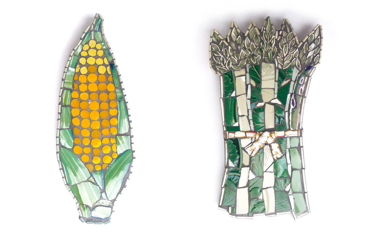 Corn Cob with Dark Kernel and Asparagus by Cleo Mussi, 2014