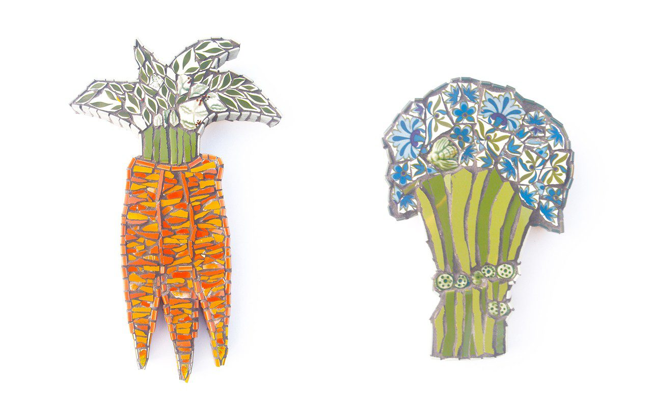 Carrots and Broccoli with Dots, 2014 by Cleo Mussi, 2014