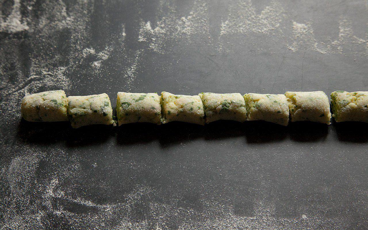 Wild garlic gnocchi