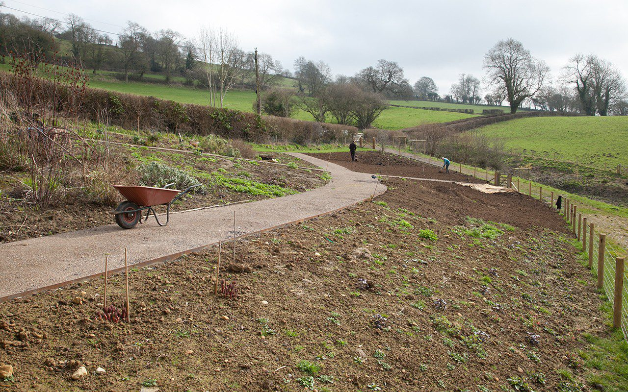 Preparing the new garden at Dan Pearson's Somerset property