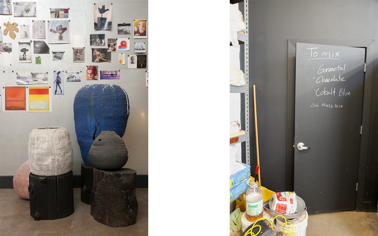Adam Silverman's Glendale studio. Photo: Huw Morgan